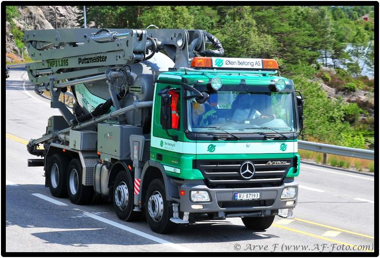 # www.AF-Foto.com # Mercedes Actros 4144 RJ 87193 Ølen Betong